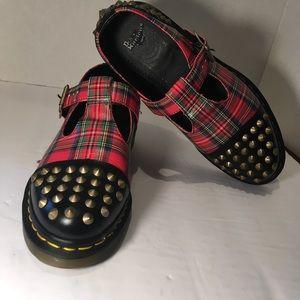 """Dr Martens """"Lilima"""" Women's Plaid Studded Shoe"""
